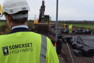 Muchelney road raising 2 Highways Road HiVis Flood Action Plan