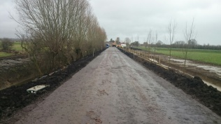 Muchelney nearing completion road flood action plan highways