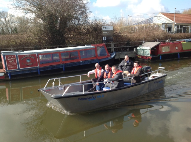 Somerset community flood support boat