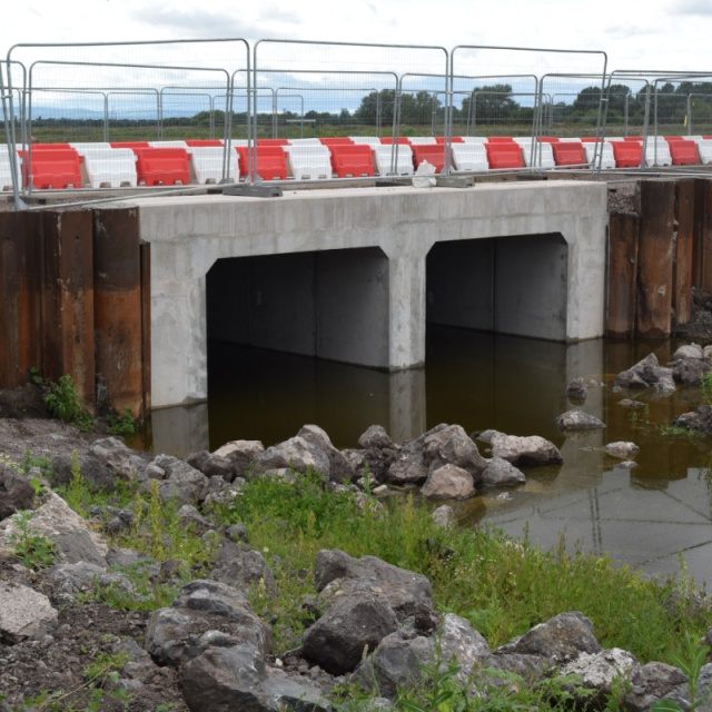 New culverts a Beer Wall