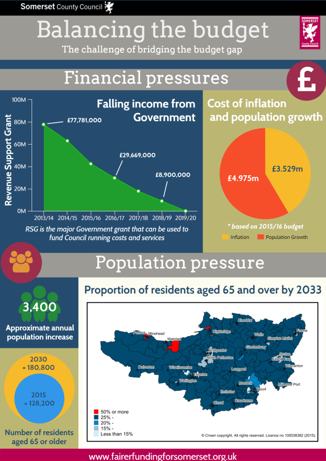 Budget infographic