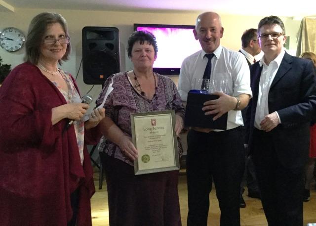 Frances Nicholson, Sandra and Denis Green, Julian Wooster