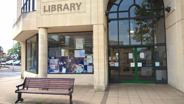 Pic of Yeovil Library display landscape