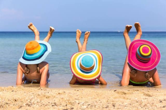 girls hats beach
