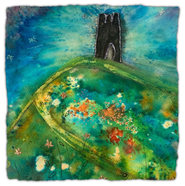 Painting of Glastonbury Tor courtesy of Gill's gallery (Burnham-on-Sea).
